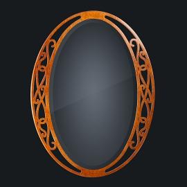 Зеркало из натурального дерева Zzibo, арт. 172