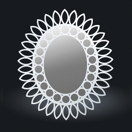 Зеркало - цвет белый