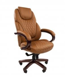 Кресло руководителя CHAIRMAN 406 коричневое