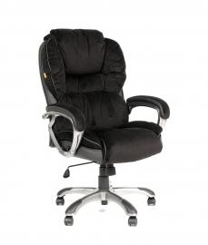 Кресло руководителя CHAIRMAN 434 чёрный вельвет