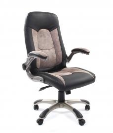 Кресло руководителя CHAIRMAN 439 PU черный/MF серый