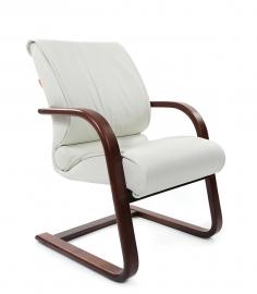Кресло для посетителей CHAIRMAN 445 WD белое