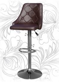 Коричневый барный стул 5021 со спинкой