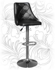Черный барный стул 5021 с высокой спинкой