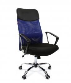 Кресло руководителя CHAIRMAN 610 синее
