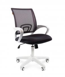 Кресло оператора CHAIRMAN 696 white сетка серая