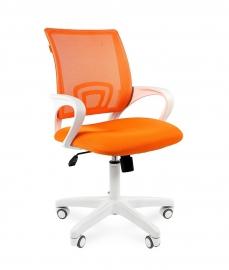 Кресло оператора CHAIRMAN 969 white сетка оранжевая