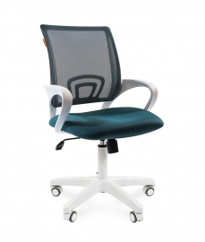 Кресло оператора CHAIRMAN 696 white сетка зелёная