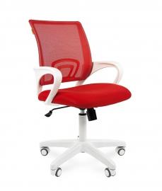 Кресло оператора CHAIRMAN 696 white сетка красная