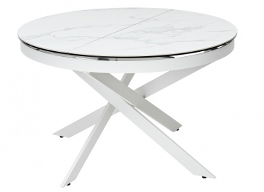 Стол TRENTO  HIGH GLOSS STATUARIO  White marble