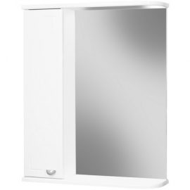 Шкаф навесной с зеркалом АЙСБЕРГ Классик 55-L левый