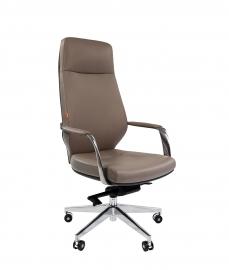 Кресло руководителя CHAIRMAN 920 светло серое/тёмно серое