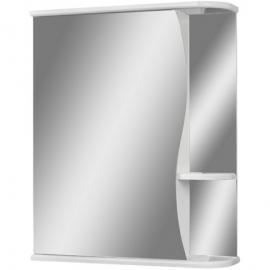 Шкаф навесной с зеркалом АЙСБЕРГ Волна-1 50-L левый