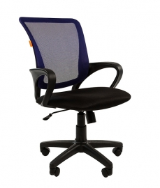 Кресло оператора CHAIRMAN 969 black сетка синяя
