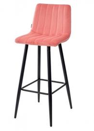 Барный стул DERRY живой коралл, велюр