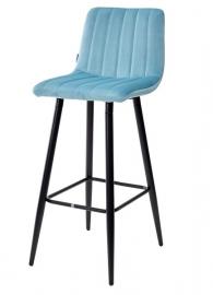 Барный стул DERRY пудровый бирюзовый, велюр