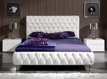 Кровать двуспальная DUPEN 629 Adriana ( 160 ) белая