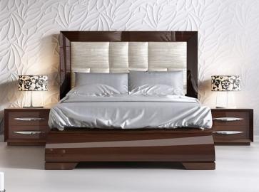 Кровать двуспальная FRANCO 1031 ( 160 ) тёмный орех