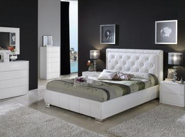 Кровать двуспальная DUPEN 661 Cinderella ( 160 ) белая