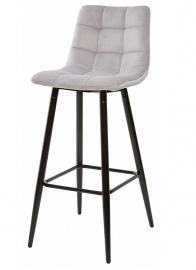 Барный стул LECCO LIGHT GREY, велюр