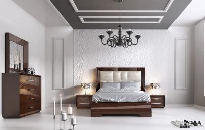 Кровать двуспальная FRANCO Carmen ( 180 ) тёмный орех