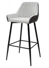 Барный стул PUNCH светло-серый меланж / антрацит