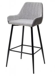 Барный стул PUNCH теплый серый / серая сталь