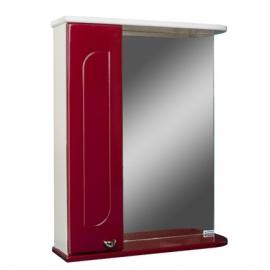 Шкаф навесной с зеркалом  РАДУГА 50 бордовый-L левый