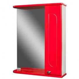 Шкаф навесной с зеркалом   РАДУГА 50 Красный-R правый