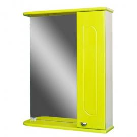 Шкаф навесной с зеркалом   РАДУГА 50 лайм-R правый