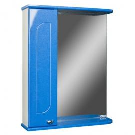 Шкаф навесной с зеркалом   РАДУГА 50  Синий металлик-L левый