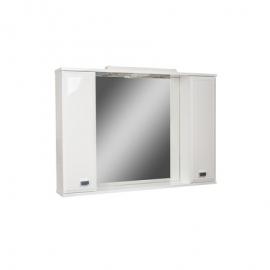 Шкаф навесной с зеркалом  Элегант 80-Эл с электрикой Люкс